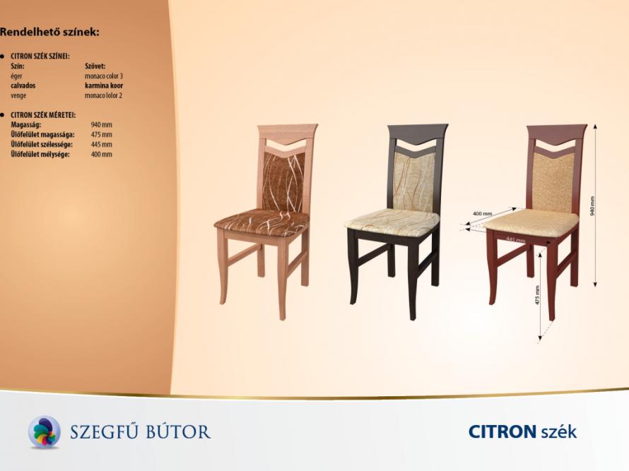 Citron szék