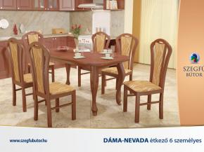 Dáma-Nevada étkező 6 személyes