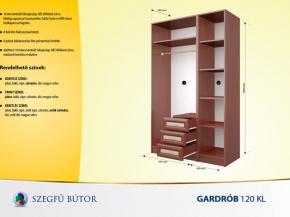 Gardrob 120 KL elemenként