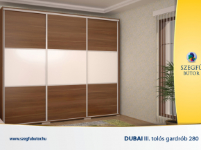 Dubai III. tolós gardrob 280
