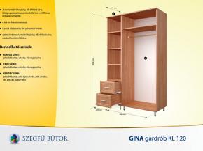 Gina gardrob KL 120 elemenként