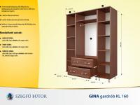 Gina gardrob KL 160 elemenként