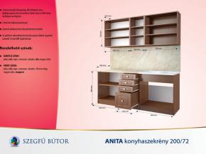 Anita konyhaszekrény 200/72 elemenként