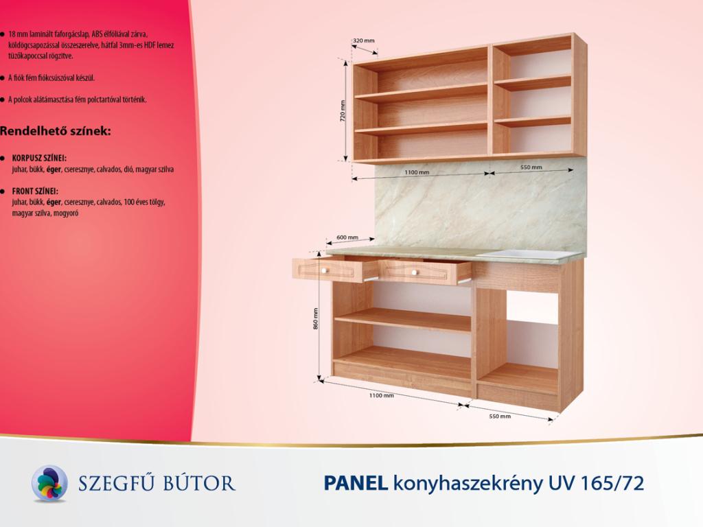 Panel konyhaszekrény UV 16572 elemenként bútor országos