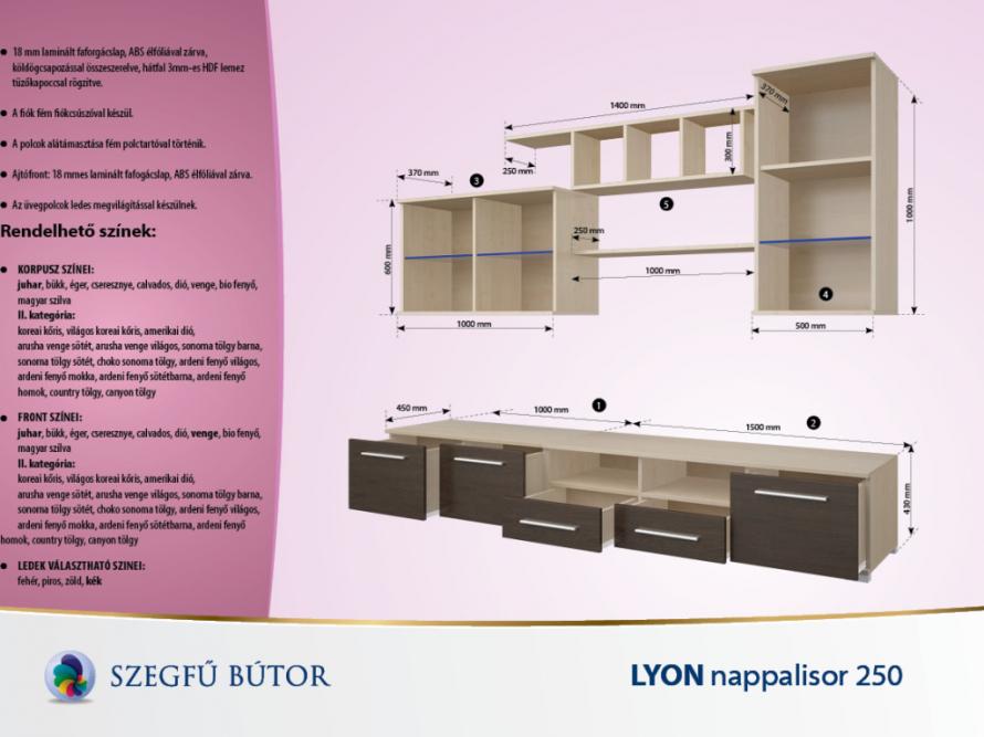 Lyon nappalisor 250 elemenként