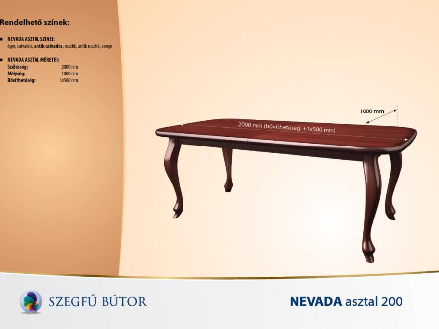 Nevada asztal 200