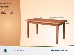 Piano asztal 160