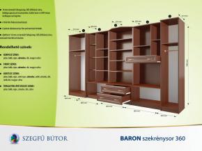 Baron szekrénysor 360 elemenként