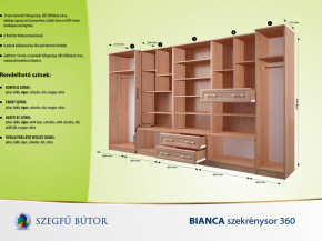 Bianca szekrénysor 360 elemenként