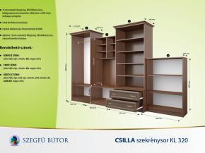 Csilla szekrénysor KL 320 elemenként
