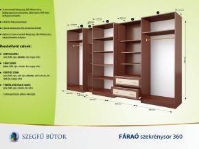 Fáraó szekrénysor 360 elemenkénti