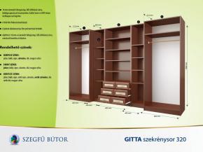 Gitta szekrénysor 320 elemenként
