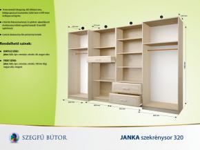 Janka szekrénysor 320 elemenként