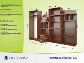 Kamill szekrénysor 320 elemenként