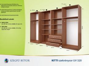 Kitti szekrénysor UV 320 elemenként