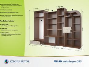 Milán szekrénysor 285 elemenként