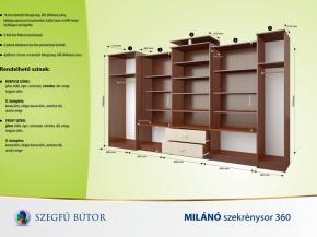 Milánó szekrénysor 360 elemenként