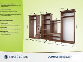 Olimpia szekrénysor 360 elemenként