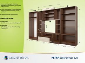 Petra szekrénysor 320 elemenként