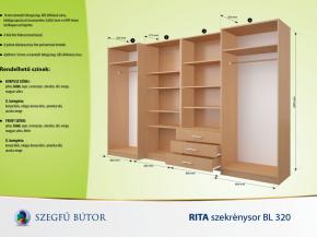 Rita szekrénysor BL 320 elemenként