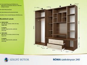 Róma szekrénysor 240 elemenként