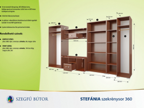 Stefánia szekrénysor 360 elemenként