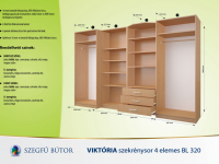 Viktória szekrénysor 4 elemes BL320 elemenként