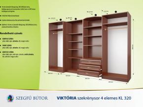 Viktória szekrénysor 4 elemes KL 320 elemenként