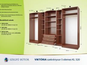 Viktória szekrénysor 5 elemes KL 320 elemenként