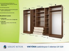 Viktória szekrénysor 5 elemes UV 320 elemenként