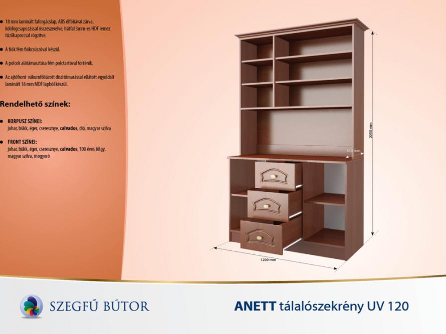 Anett tálalószekrény UV 120 elemenként
