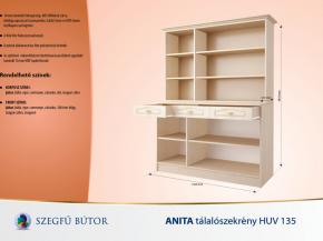 Anita tálalószekrény HUV 135 elemenként