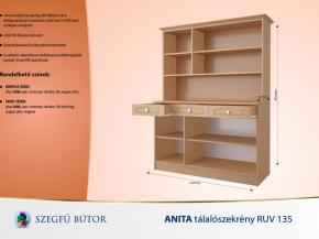 Anita tálalószekrény  RUV 135 elemenként