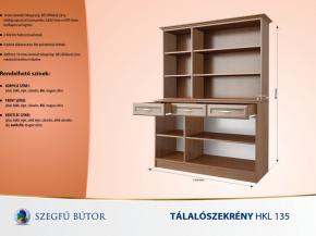 Tálalószekrény HKL 135 elemenként