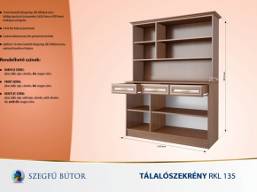 Tálalószekrény RKL 135 elemenként