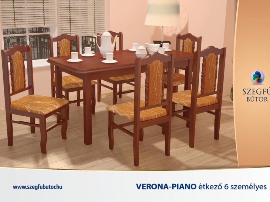 Verona-Piano étkező 6 személyes